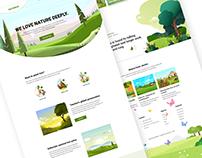 Eco Friendly Landing Page Exploration