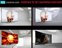 Modern TV Animated Mockup Generator TV screen mock-up