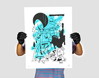 Silkscreen x Spray - Blue