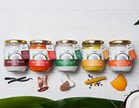 New Branding of Jeeva's flavoured Coconut Oil