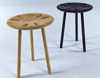SIX nesting stool