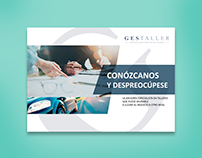 Gestaller | Corporate flyer | Design + Copywriting