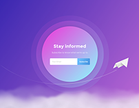 Email Subscription Concept