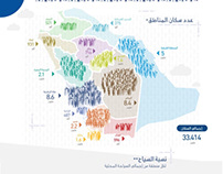 Population Statistics infographic in Saudi Arabia