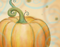 Happy October, Pumpkin Illo