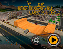 City Bicycle Stunt Rider Game UI Design