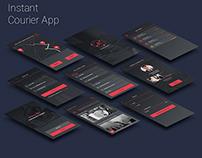 UX/UI design for instant courier app