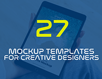 27 Latest PSD Mockup Templates for Designers