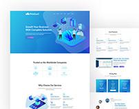 WebSasS - SaaS, Software, Startup Tech PSD Template