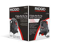 RIDGID Red Vac Packaging