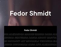 Fedor Shmidt — Website Redesign