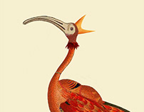 Infertile Birds: Genus Rubytibis (collage)