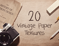 20 Vintage Paper Textures / Backgrounds
