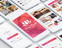 Natural Beauty & Spa Salon App UI Kit