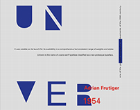Univers Adrian Frutiger Posters