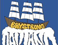 Bay Strong Ghost Ship Tribute Artwork