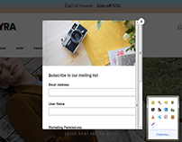 Popup Form with mailchimp