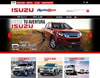 Diseño página web Isuzu