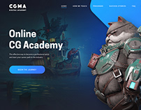 Landing/promo page concept for CG education website