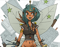 BizarreCon 2015 Comic Fairy Mascot
