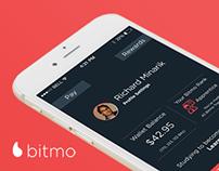 Payments App UI/UX design - Bitmo iOS app