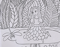 Coloring book design for charity project