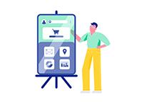 Vector illustration: Business