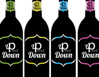 Up and Down Wine Bottle Design