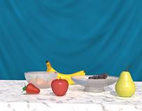 3D challenge - Fruits