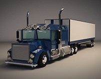 Low Poly Lorry Truck