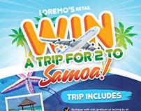 Win A Trip Flyer Templates
