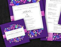 Wedding Invite: Crystal & Arman