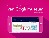 Concept idea development for Van Gogh museum