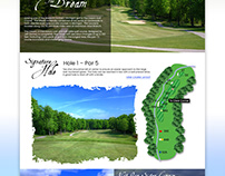 The Dream Golf Course - Web Design Concept