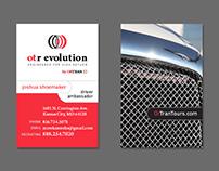otr evolution Business Cards