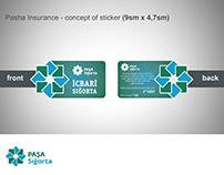 Pasha Insurance - development concept of sticker