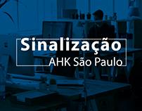 Projeto de Sinalização interna AHK São Paulo