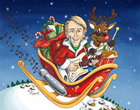 Color & Digital Painting for Al Jardine's X-mas Single