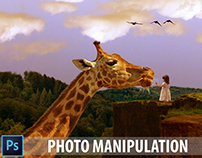 Big Giraffe Photoshop Photo Manipulation