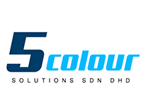 5 colour logo design