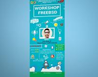 Free BSD Workshop Banner Design