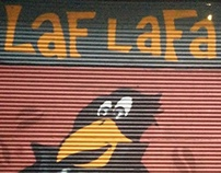 """Laf Lafa"" Coffee & Company graffiti work"