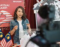 A SHARP Malaysia Lucky Draw Set Design (2018)