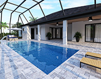 3D Rendering for Swimming Pool Design Sarasota Florida