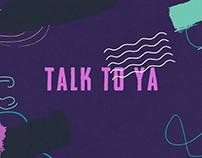 HRVY - Talk To Ya | Lyric Video