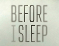 "short movie poster design ""Before I Sleep"""