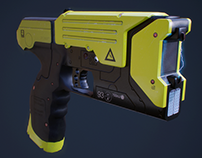 Taser 3d model - Low poly