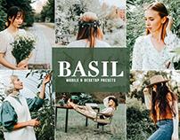 Free Basil Mobile & Desktop Lightroom Presets