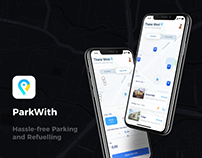 ParkWith - iOS Design UI UX Project