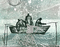 "Series of etchings ""Fishermen"""